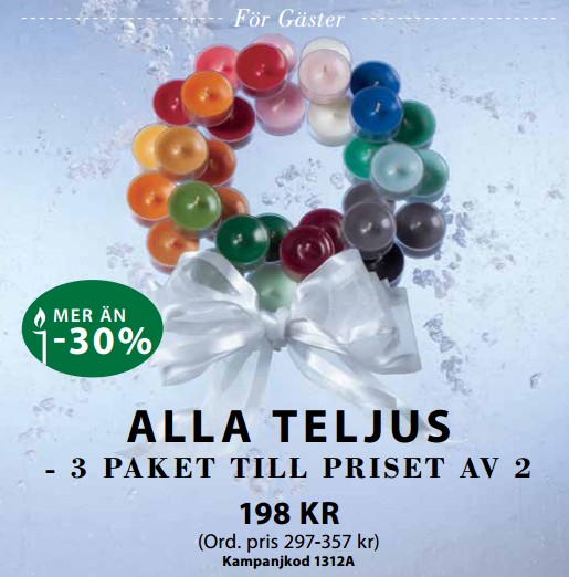 PartyLite 3 for 2 teljus dec 2013