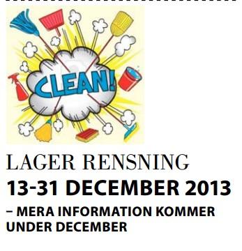 lagerrensning PartyLite Rea December 2013