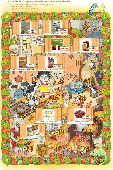 Julkalender for djur