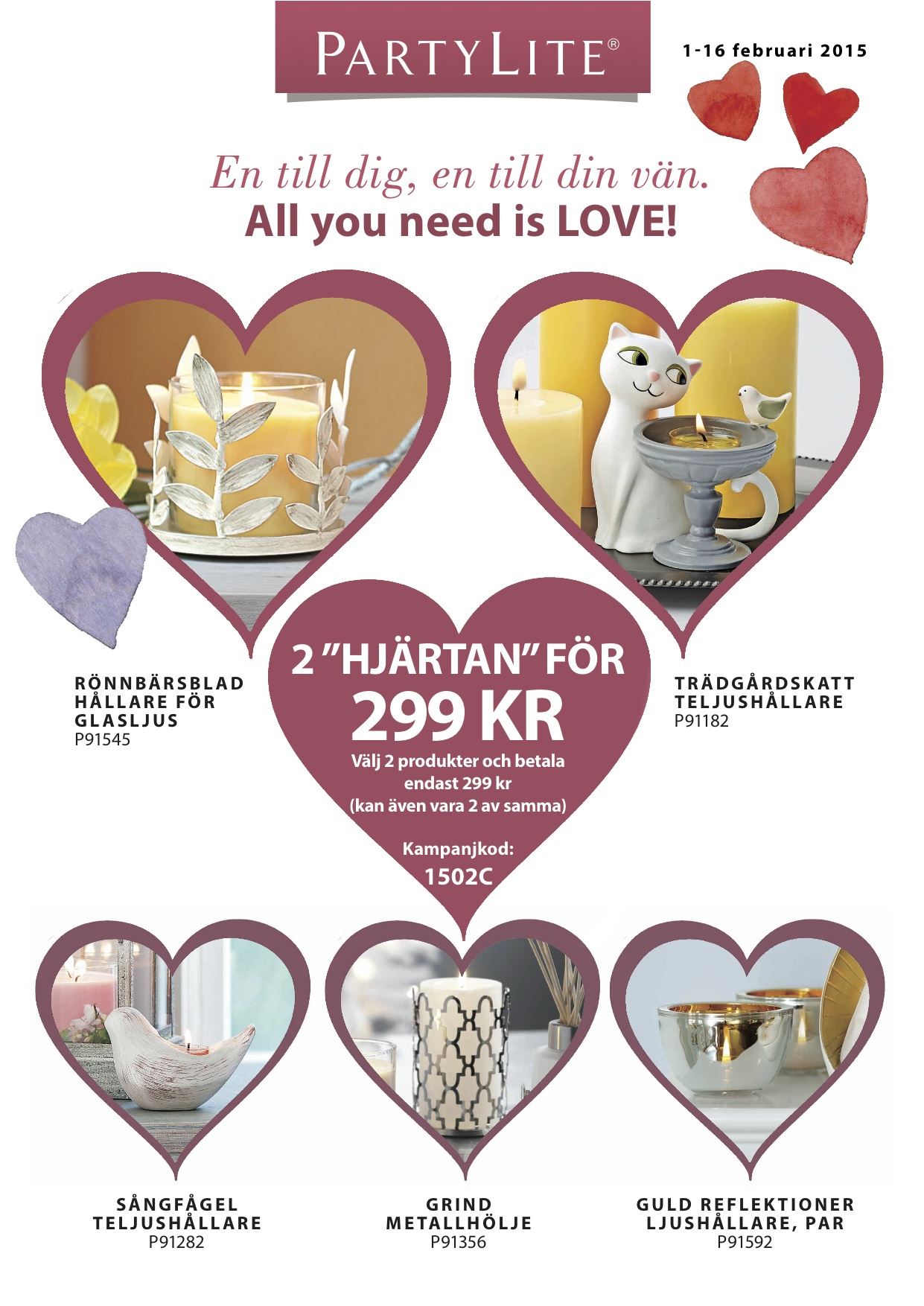 PartyLite 2015 FEBRUARY 1-16